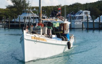 The lab moves from Highborne Cay to Little Darby Island, June 2008